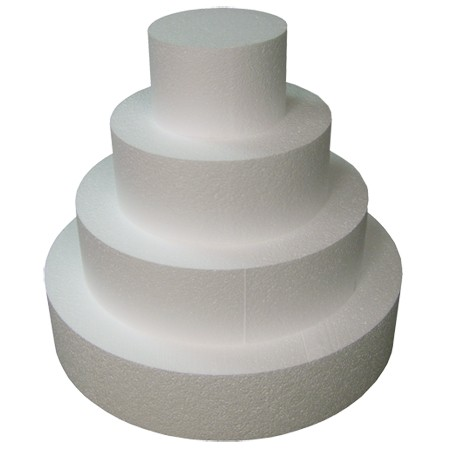 """StyroShapes™ 4""""  Thick Cake Dummies - 3 layers of 13 pieces"""