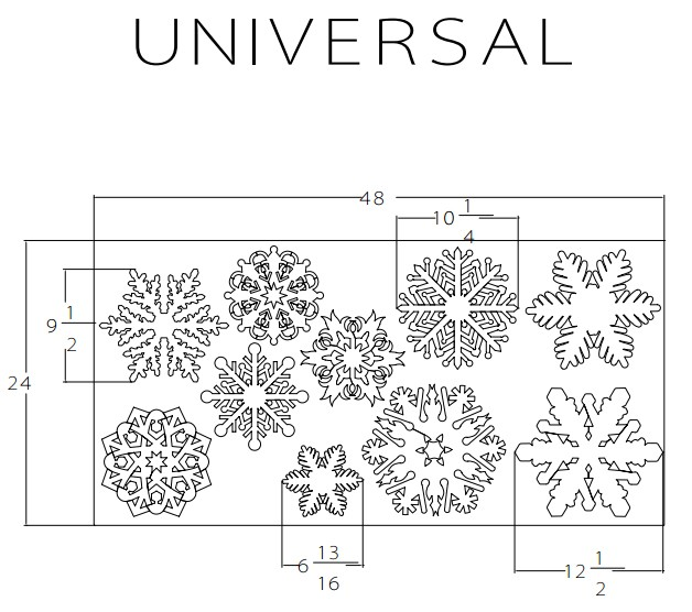"150 Styrofoam Snowflakes, 15 each of 10 unique designs, 7/8"" thick"