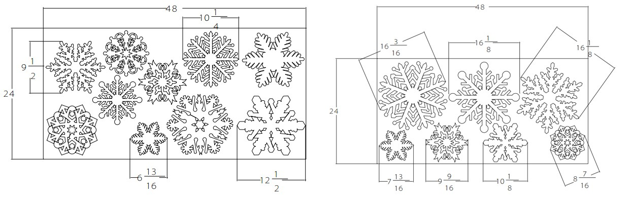 """17 unique Foam Snowflakes, 7/8"""" thick – Family Variety Pack"""