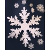 "Extra large snowflakes, 92"" diameter x  1-1/8"" thick. 2 per box."